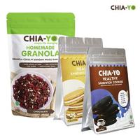 Chia-Yo Bundling Granola Dark Choco 100 g + Cookies Sandwich Coffee dan Vanilla
