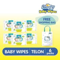 Buy 6 Pack Sweety Baby Wipes Telon Get Free Shopping Bag