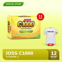 Joss C1000 Vitamin C 11 Pack FREE Kaos Gowes Putih