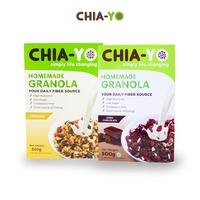 Chia-Yo PAKET : 2 Homemade Granola 500 g (Original & Dark Chocolate)