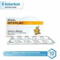 Interlac Tablet Kunyah Lemon
