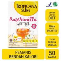 Tropicana Slim Sweetener Rose Vanilla (1 Box @ 50 Sachet)
