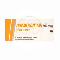 Diamicron Mr Tablet 60 mg (1 Strip @ 15 Tablet)