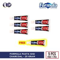 5 Gratis 1 - Pasta Gigi Formula Charcoal 25 g