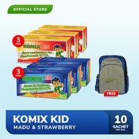 Komix Kid Strawberry 3 Pack + Komix Kid OBH 3 Pack FREE Tas Komix