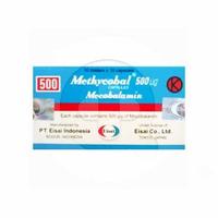 Methycobal Kapsul 500 mcg (1 Strip @ 10 Tablet)
