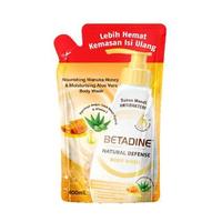 BETADINE Body Wash Antibacterial Manuka Honey Refill 400 mL