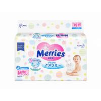 MERRIES Baby Diapers M 38'S
