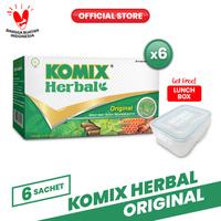 Komix Herbal Original Sachet 6 Pack (36 Sachet) FREE Lunch Box