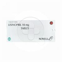 Lisinopril Novell Tablet 10 mg (1 Strip @ 10 Tablet)