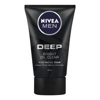 NIVEA MEN Clean Deep Bright Oil Clear Foam 100 ml - Twin Pack
