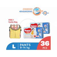 Huggies Dry Pants Popok Celana L 36 2 Pack Free Cooler Bag
