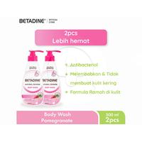 BETADINE Body Wash Pomegranate Bottle 500 mL -  Twin Pack