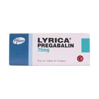Lyrica Kapsul 75 mg (1 Strip @ 14 Kapsul)