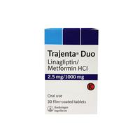 Trajenta Duo Tablet 2,5 mg/1000 mg (1 Strip @ 10 Tablet)