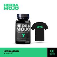 Herbamojo Kapsul (1 Botol @ 60 Kapsul) + T-Shirt (L)