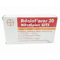 Adalat Oros Tablet 20 mg (1 Strip @ 10 Tablet)