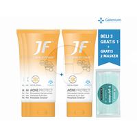 Beli 3 Gratis 1 JF Acne Protect Facial Foam 70 g FREE Exclusive Masker SehatQ