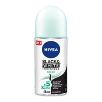 NIVEA Deodorant Invisible Black & White Fresh Roll On 50 ml