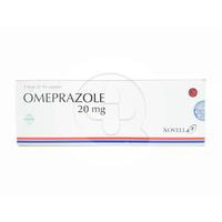 Omeprazole Novell Tablet 20 mg (1 Strip @ 10 Tablet)