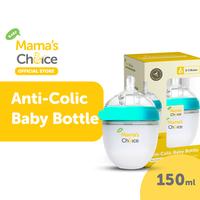 Mama's Choice Anti Colic Baby Bottle - Botol Susu - Dot Bayi Anti Kolik - Small - Cyan