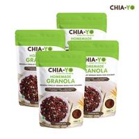 Chia-Yo Bundling 4 pack Homemade Granola Dark Chocolate 100 g