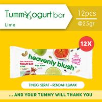 Heavenly Blush Tummy Yogurt Bar Lime 25 g (12 Pcs)