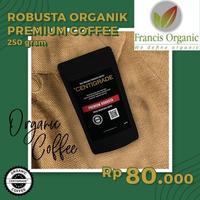Francis Organic-Organic Premium Robusta Coffee/Kopi Robusta Organik Premium 250 g