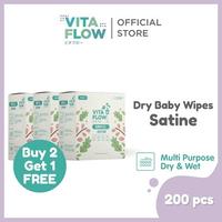 Vitaflow Dry Tissue Satine 200 Lembar - Buy 2 Get 1 Free