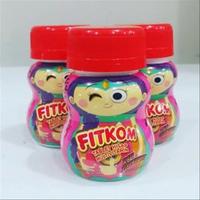 Fitkom Tablet Hisap Rasa Strawberry (1 Botol @ 30 Tablet)