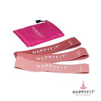 Happyfit Resistance Loop Band Set Woven (3in1) - Pink
