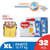 Huggies Dry Pants Popok Celana XL 32 2 Pack Free Cooler Bag
