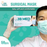 JB MED Surgical Mask - Masker Medis 3 Ply (1 Box @ 50 Pcs)