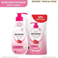 BETADINE Body Wash Pomegranate Bottle 500 ml - Free Refil 400 ml