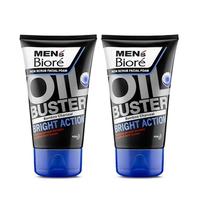 Men's Biore Facial Foam Oil Buster Bright Action 100 g - Twinpack