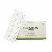 Allopurinol Bernofarm Tablet 100 mg (10 Strip @ 10 Tablet)