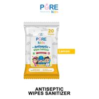 Pure Kids Antiseptic Wipes Sanitizer Lemon 20's
