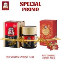 Cheong Kwan Jang Promo Spesial Korean Red Ginseng Extract 120 g + Reenese Ginseng Candy
