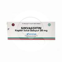 Simvastatin Bernofarm Tablet 20 mg (10 Strip @ 10 Tablet)