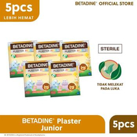 BETADINE Plaster Junior Zoo Party (5 Pack)