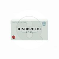 Bisoprolol Tablet 2,5 mg (1 Strip @ 10 Tablet)