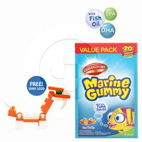 Cerebrofort Marine Gummy Mix Fruit Free Dino Mini Block