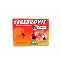 Cerebrovit Ginkgo Kapsul (1 Strip @ 10 Kapsul)