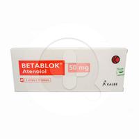 Betablok Tablet 50 mg (1 Strip @ 10 Tablet)