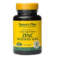 Nature's Plus Zinc Picolinate B6 Tablet (60 Tablets)