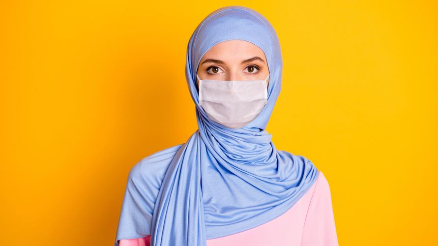 Konektor masker untuk hijab penting untuk menahan masker di tempat