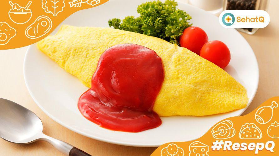 Resep omurice Jepang mudah dibuat di rumah