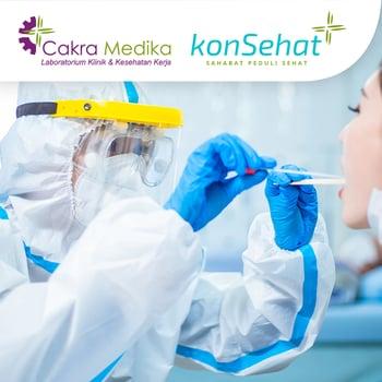 Swab Antigen Test COVID 19 di Lab Klinik dan Kesehatan Cakra Medika, Bekasi seharga Rp 99.000