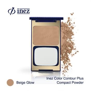 Inez Color Contour Plus Compact Powder - Beige Glow harga terbaik