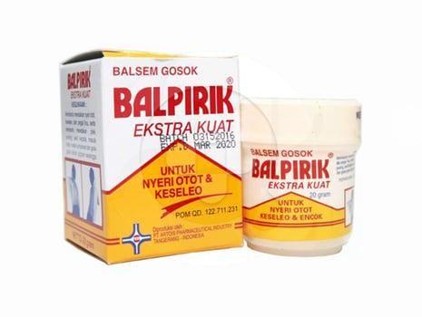 Balpirik Kuning Balsem Gosok Extra Kuat 20g digunakan untuk nyeri otot dan keseleo